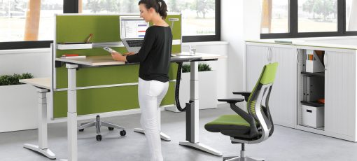 steelcase height adjustable desk