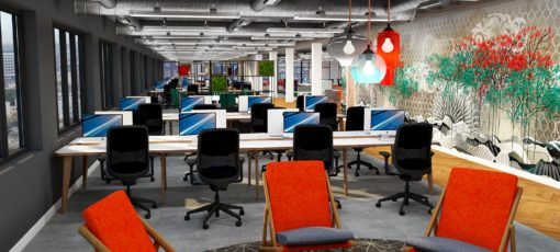 office design visual render newcastle upon tyne